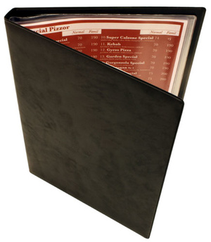 Pärm demobok A4 PVC skum svart 30-fickor