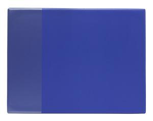 Skrivunderlägg A2 PP blå med klaff för almanacka samt skummad undersida