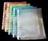 Bälgficka med klaff A4 i transp pp.  0,25 mm baksida