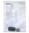 Servicemapp A4 PVC transp. 0,18, frostad ficka på framsida