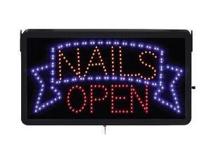 """Skylt """"Nails open"""""""