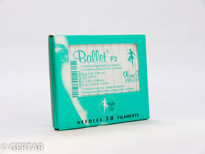 Epileringsnål Ballet oisolerad F-skaft 50 st