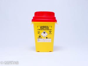 Burk riskavfall plast