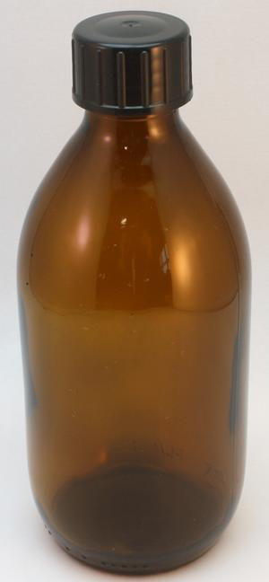 Flaska glas 300 ml brun