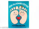Klinikskylt fötter 32 x 44cm