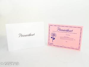Presentkort med kuvert 50 st rosa blomma