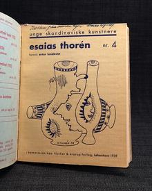 (Olson, Erik) & (Mörner, Stellan) & (Thorén, Esaias) - Vilh. Bjerke-Petersen (red.): (Halmstadgruppen / unge skandinaviske kunstnere, 2, 3, 4:) - - - Erik Olson. (Text av Louis Cattiaux.) - - - Stellan Mörner. (Förord av Harry Martinson.) - - - Esaias Thorén. (Förord av Artur Lundkvist.)