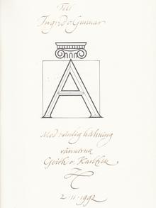 Forsberg, Karl-Erik: Vandring bland bokstavsformer. [...] Under medverkan av Geith Forsberg.