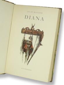 Blicher, Steen Steensen: Diana. I Udvalg ved Mag. Art. Erling Nielsen. Illustrationer af Ib Friis.