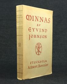 Johnson, Eyvind: Minnas. En roman.
