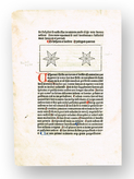 Blad från Dialogus creaturarum - Gouda 1480
