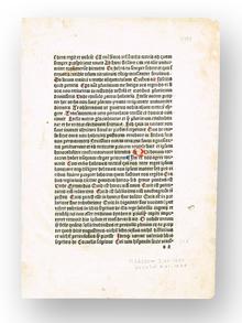 [Maynus de Mayneriis]: Inkunabelblad från editio princeps av 'Dialogus creaturarum' (1480).