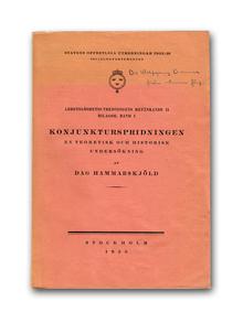 Hammarskjöld, Dag: Konjunkturspridningen. En teoretisk och historisk undersökning.