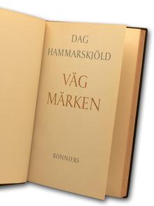 Hammarskjöld, Dag: Vägmärken.