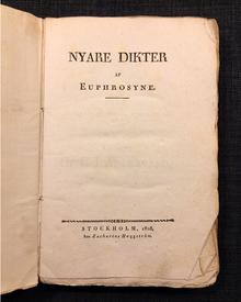 "[Nyberg, Julia Christina], pseud. ""Euphrosyne"": Nyare dikter av Euphrosyne."