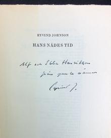Johnson, Eyvind: Hans Nådes tid. Roman.