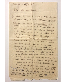 Martinson, Harry (1974-1978): A long, previously unrecorded Autograph Letter Signed, dated 1929.