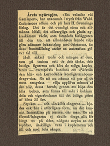 Sandberg, Eric: Ett valmöte vid Gamleport. Nyårsskämt med sång och dans i 1 akt.