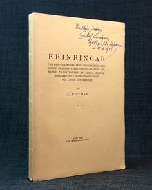 Nyman, Alf: Erinringar vid professorerna Axel Hägerströms och Adolf Phaléns sakkunnigutlåtande rörande tillsättandet av lediga professorsämbetet i teoretisk filosofi vid Lunds Universitet.