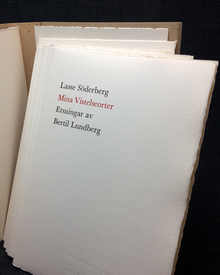 Söderberg, Lasse: Mina vistelseorter. Etsningar av Bertil Lundberg.