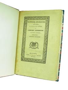 (Leonbruno, Lorenzo) (1480-1537) - Girolamo Prandi: Notizie storiche spettanti la vita e le opere di Lorenzo Leonbruno, insigne pittore mantovano del secolo XVI.