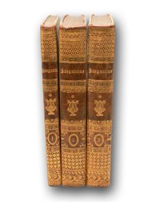 Stagnelius, Erik Johan | (Böttiger, C. W., provenance): Samlade skrifter, utgifne af L. Hammarsköld. 1–3.