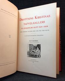 Granberg, Olof: Drottning Kristinas tafvelgalleri på Stockholms slott och i Rom, dess uppkomst och dess öden ända till våra dagar. En historisk-konstkritisk undersökning.
