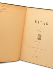 [Nordlund, Sigrid, née Gyllander]: Bitar af Snorre. Tredje upplagan. Illustrerad af Edv. Forsström och Carl Printzensköld.