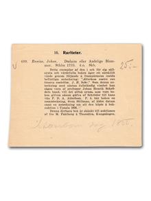 Runius, Johan | Atterbom & J. H. Schröder (proveniens): Dudaim eller Andelige blommor, […] efter auctoris död uppå mångens åstundan och begiäran nu å nyo andra gången uplagdt och i sin tilbörlige krantz infästade. [1]–3.