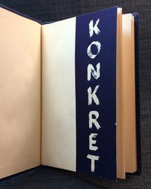 Eklund, Hans: Konkret. Utställning / Olle Bonniér Pierre Olofsson Karl-Axel Pehrson målningar / Arne Jones skulptur. 19 mars-5 april 1949.