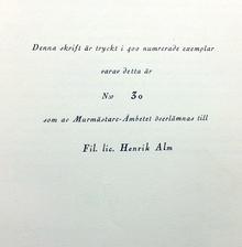 Alm, Henrik: Murmästare-ämbetet i Stockholm.