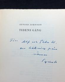 Johnson, Eyvind: Tidens gång. En romantisk berättelse.