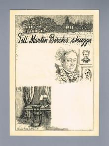 (Söderberg, Hjalmar / Bergman, Bo) - Hedlund, Bertil Bull (1893-1950): Till Martin Bircks skugga.