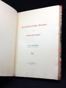 Granberg, Olof: Konsthistoriska studier och anteckningar.