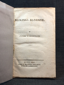 Lindeblad, Assar: Blekings-blommor.