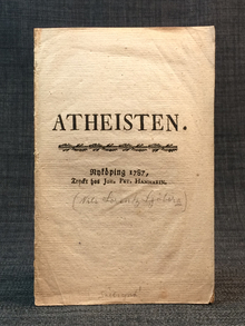 [Sjöberg, Nils Lorens]: Atheisten.