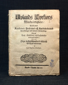 Frediani, Carl Gustaf: Uplands kyrkiors märckwärdigheter. [1-2, av 3.]