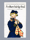 "Coloured sketch for ""Å vilken härlig fred"" by Hasse & Tage"