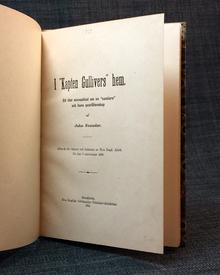 """(Bergstrand, Per Emanuel) - John Neander: I """"kapten Gullivers"""" hem. Ett litet minnesblad om en """"samlare"""" och hans qvarlåtenskap."""