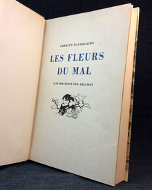 Baudelaire, Charles & Hallman, Adolf (illustr.): Les fleurs du mal. Illustrations par Hallman.