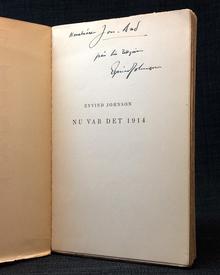 Johnson, Eyvind: Nu var det 1914.