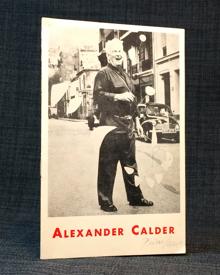(Calder, Alexander) (1898-1976): Alexander Calder. Mobiles et stabiles. Februari 1958. Galerie Blanche.