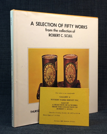 (Scull Collection) - A Selection of Fifty Works from the Collection of Robert C. Scull. [=Title on dustjacket.] Post-War and Contemporary paintings and sculpture from the collection of Robert C. Scull, including works by Bontecou, Chamberlain, Christensen, De Kooning, De Maria, Dine, Di Suvero, Guston, Indiana, Johns, Kline, Morris, Newman, Oldenburg, Poons, Rauschenberg, Rivers, Rosenquist, Samaras, Segal, Stella, Trova, Twombly, Warhol, Wesselman, Young.