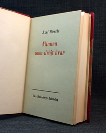 Hirsch, Axel: Minnen som dröjt kvar.