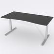 Skrivbord Ursågad Manuell 180x82 cm HP Laminat Svart