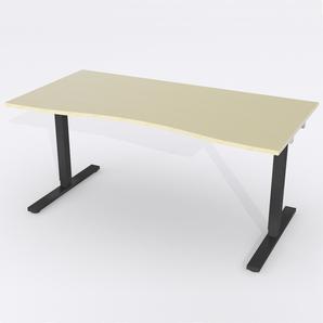 Schreibtisch Ursagad Manuelle 164x82 cm Furnier Birke