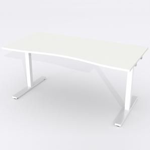 Schreibtisch Ursagad Manuelle 164x82 cm Laminat Weiß