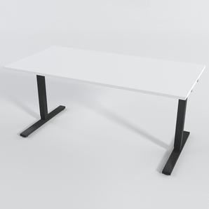 Skrivbord Rektangulär Elektrisk 140x80 cm HP Laminat Vit