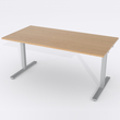 Skrivbord Rektangulär Manuell 140x80 cm Ekfanér