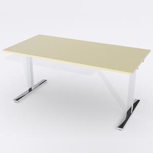 Schreibtisch Rechteck Manuelle 140x80 Furnier Birke